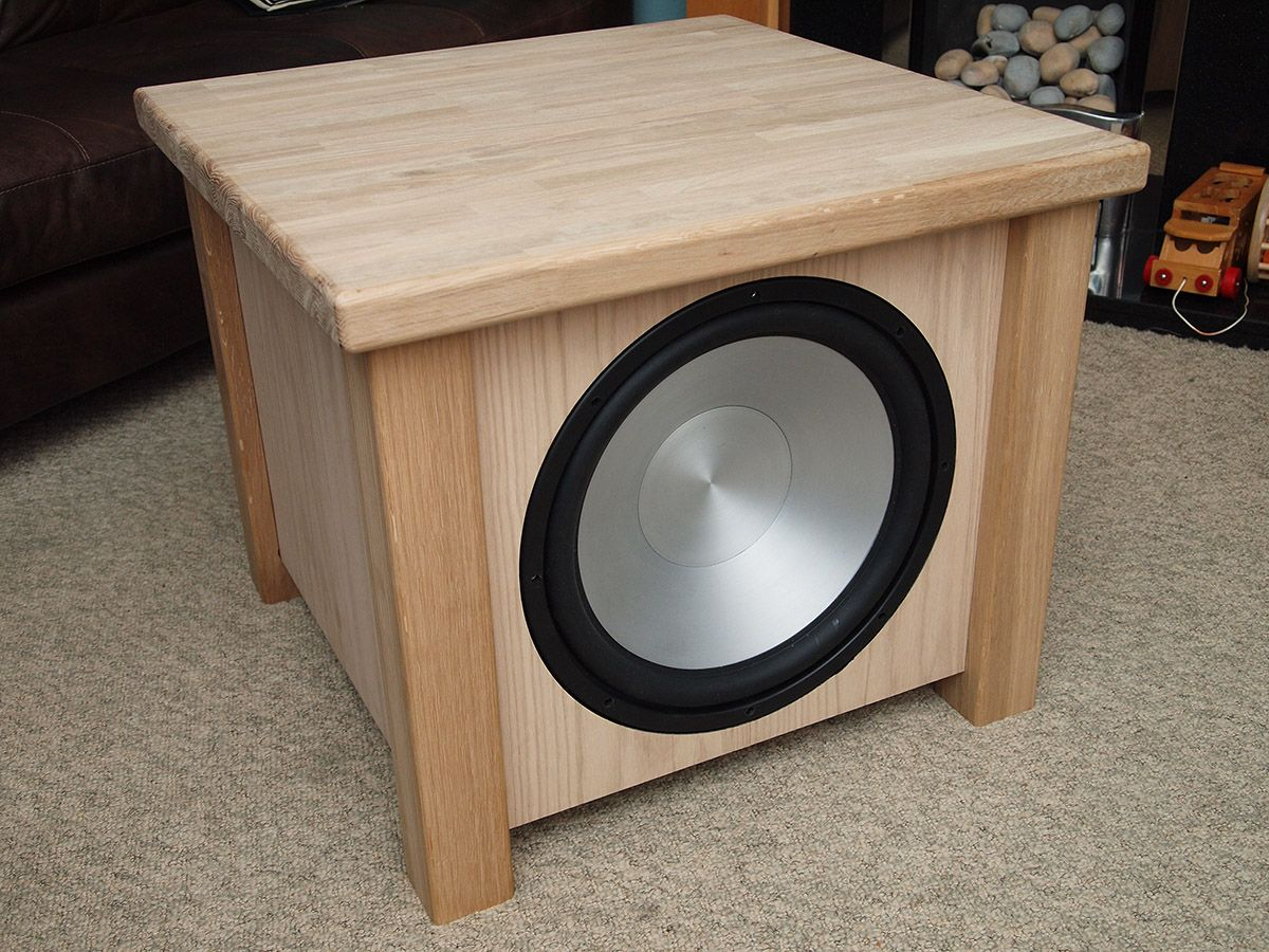subwoofer end teable selfmade speakers pinterest. Black Bedroom Furniture Sets. Home Design Ideas