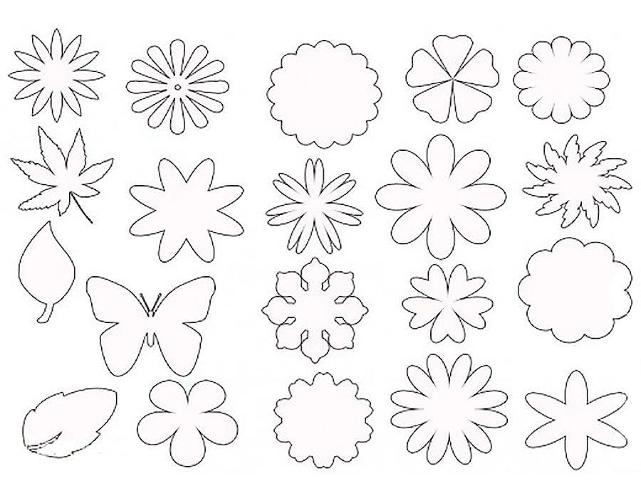 Распечатать маленькие цветочки для открытки