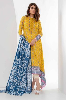 1ee66c4b12 Khaadi Mid Summer Collection - 2018. Khaadi 2 Piece Printed Custom Stitched  Lawn Suit - L18308 - Yellow Lawn Suits, Summer