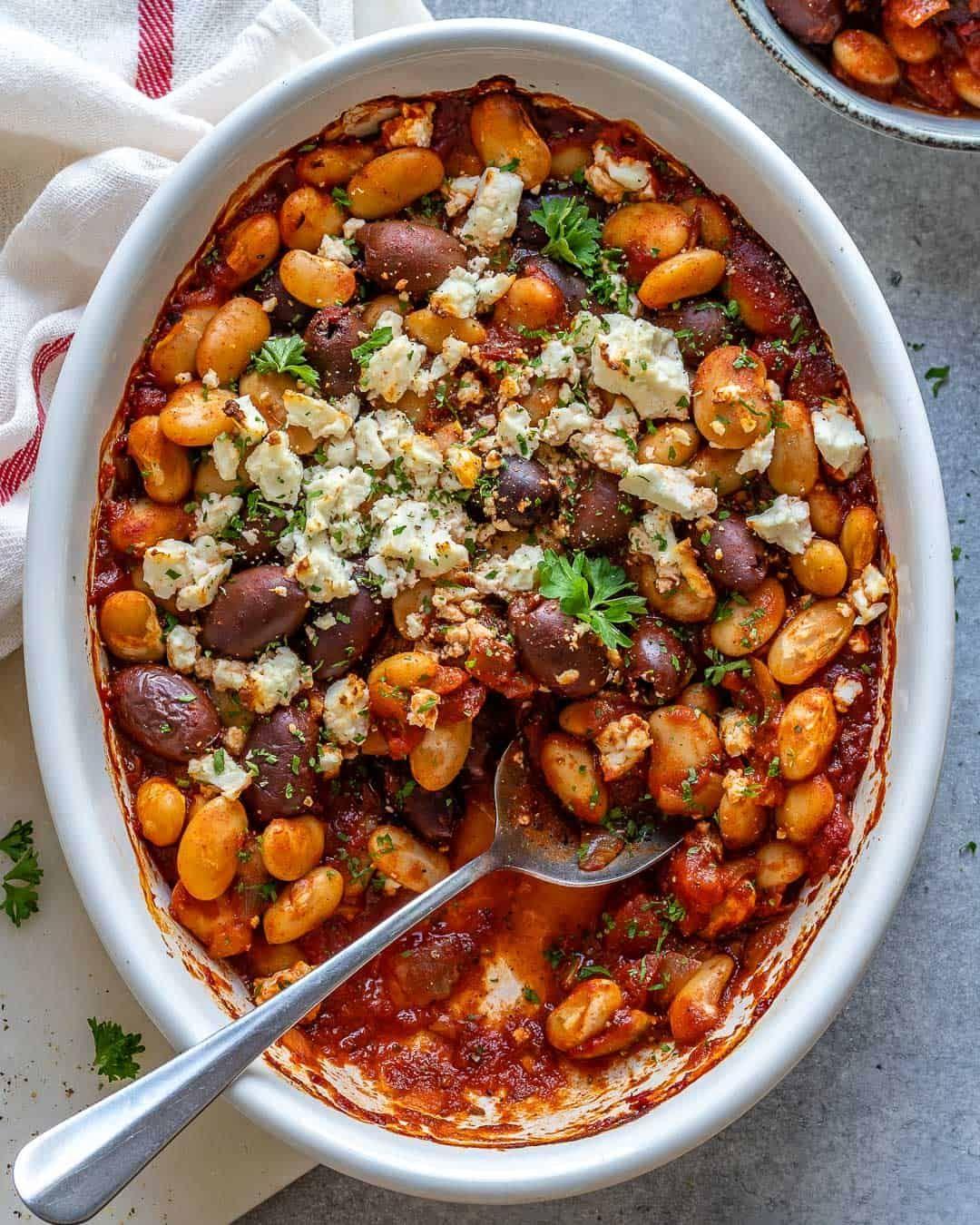 Greek Baked Beans Recipe In 2021 Bean Recipes Baked Beans Baked Bean Recipes