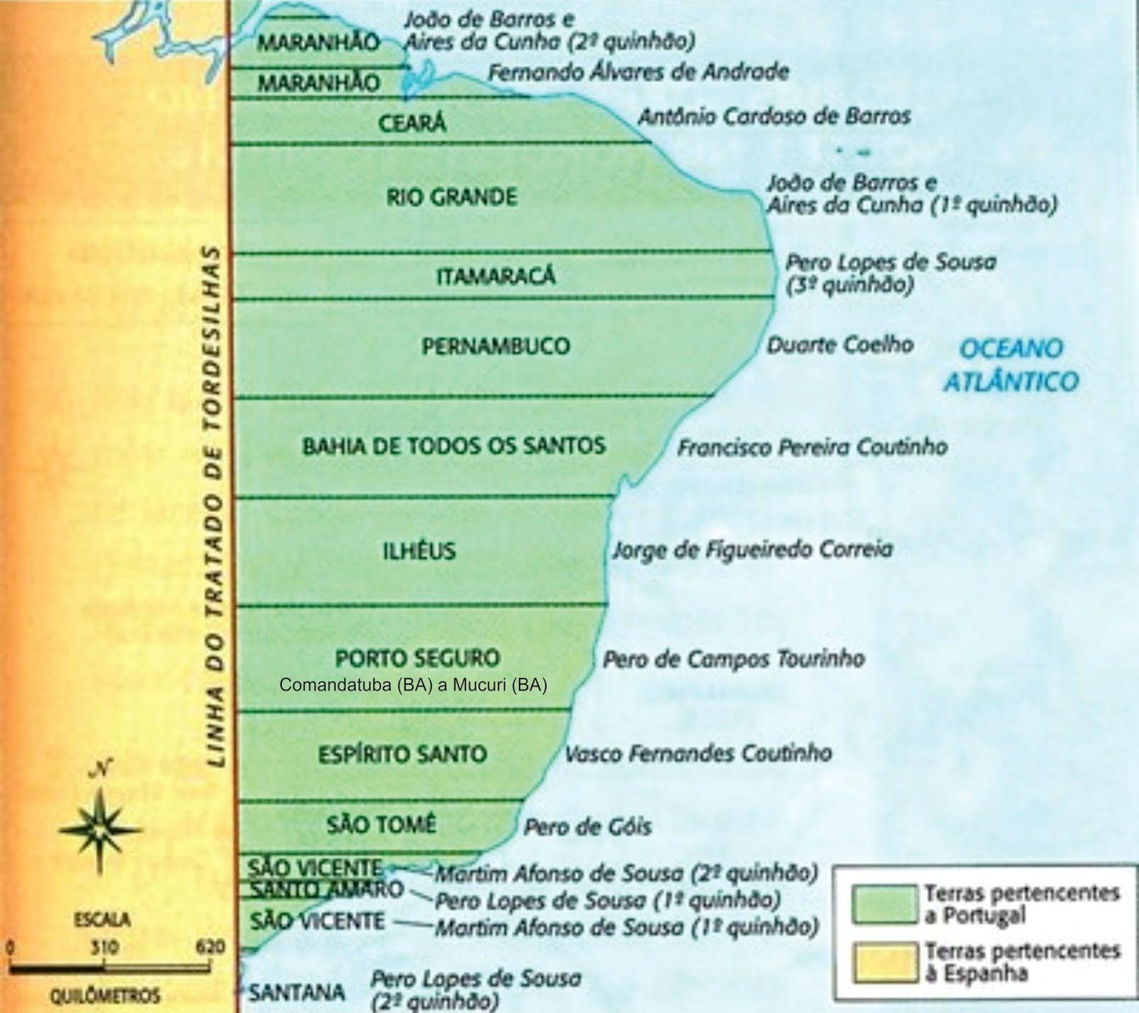 Capitanias Hereditarias Significado Mapa Motivos Do Fracasso