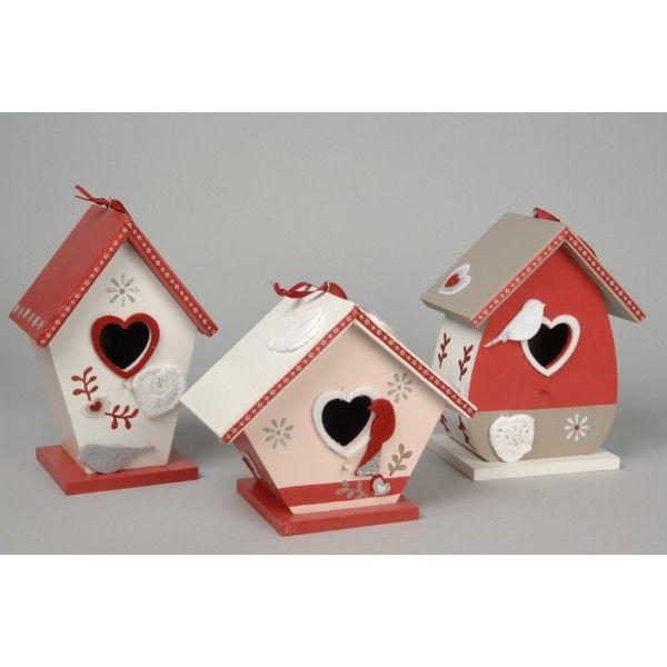Nichoir en bois suspendre dekoboutique bo te en bois for Decoration maison oiseau