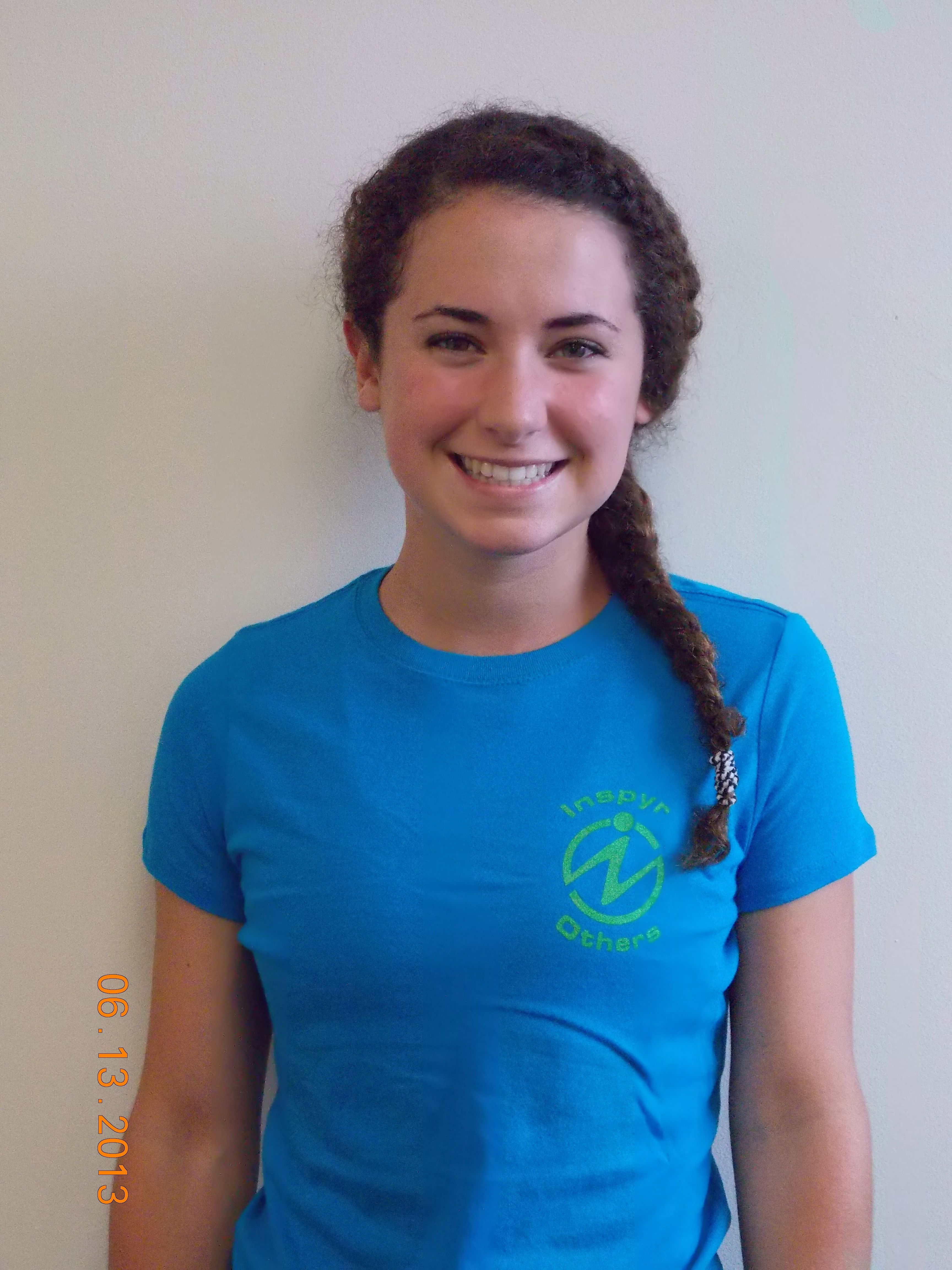 Megan is wearing her ladies 100% combed cotton t-shirt from Inspyr Apparel. Soft as silk with a positive message.