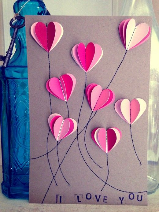 DIY Paint Chip Valentines Day Cards – Homemade Valentine Cards Ideas