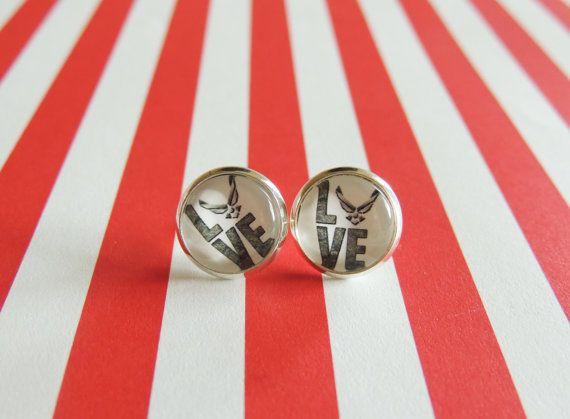 love air force earrings