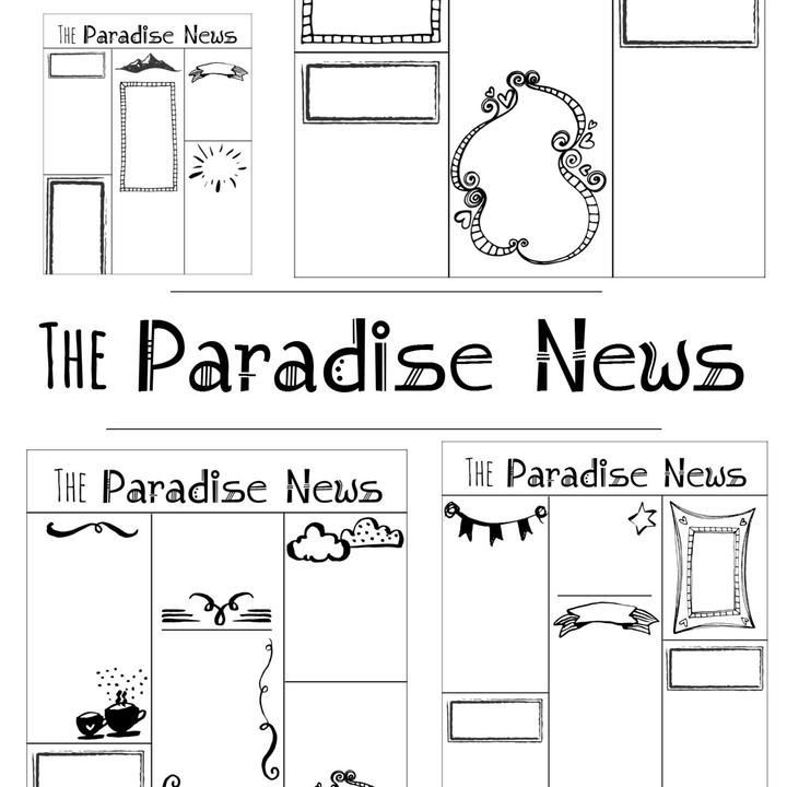 Family Worship Project-Write Your Own Paradise News Articles