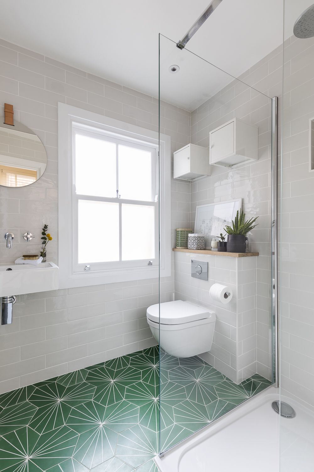 Boutique Hotel Bathroom Design. Green Floor Tiles By Marrakech Design Make  A Bold And Modern Statement And Inject Vibrant Colour Into The Shower Room,  ...
