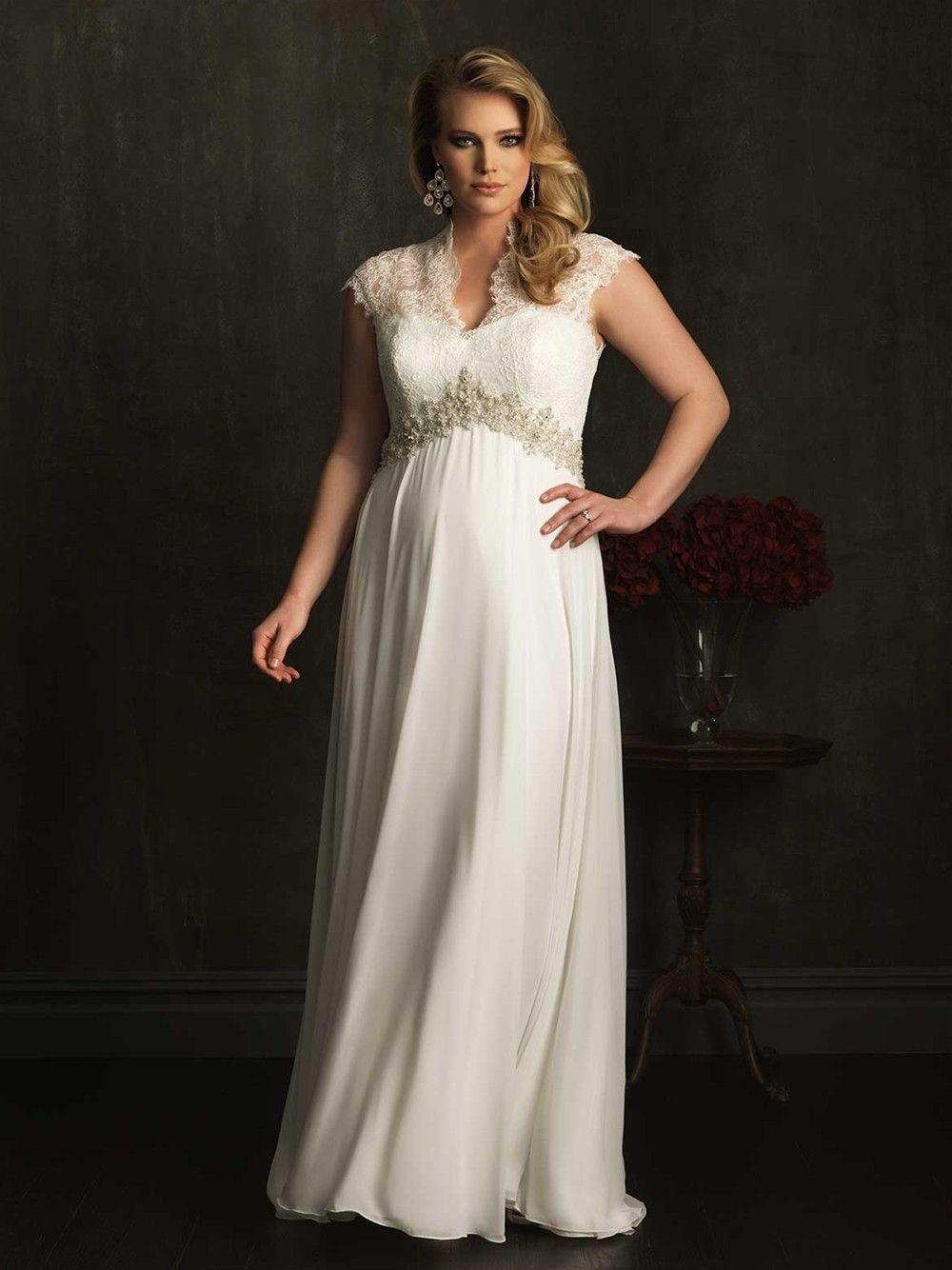 Plus size dresses v neck for weddings short sleeves lace wedding