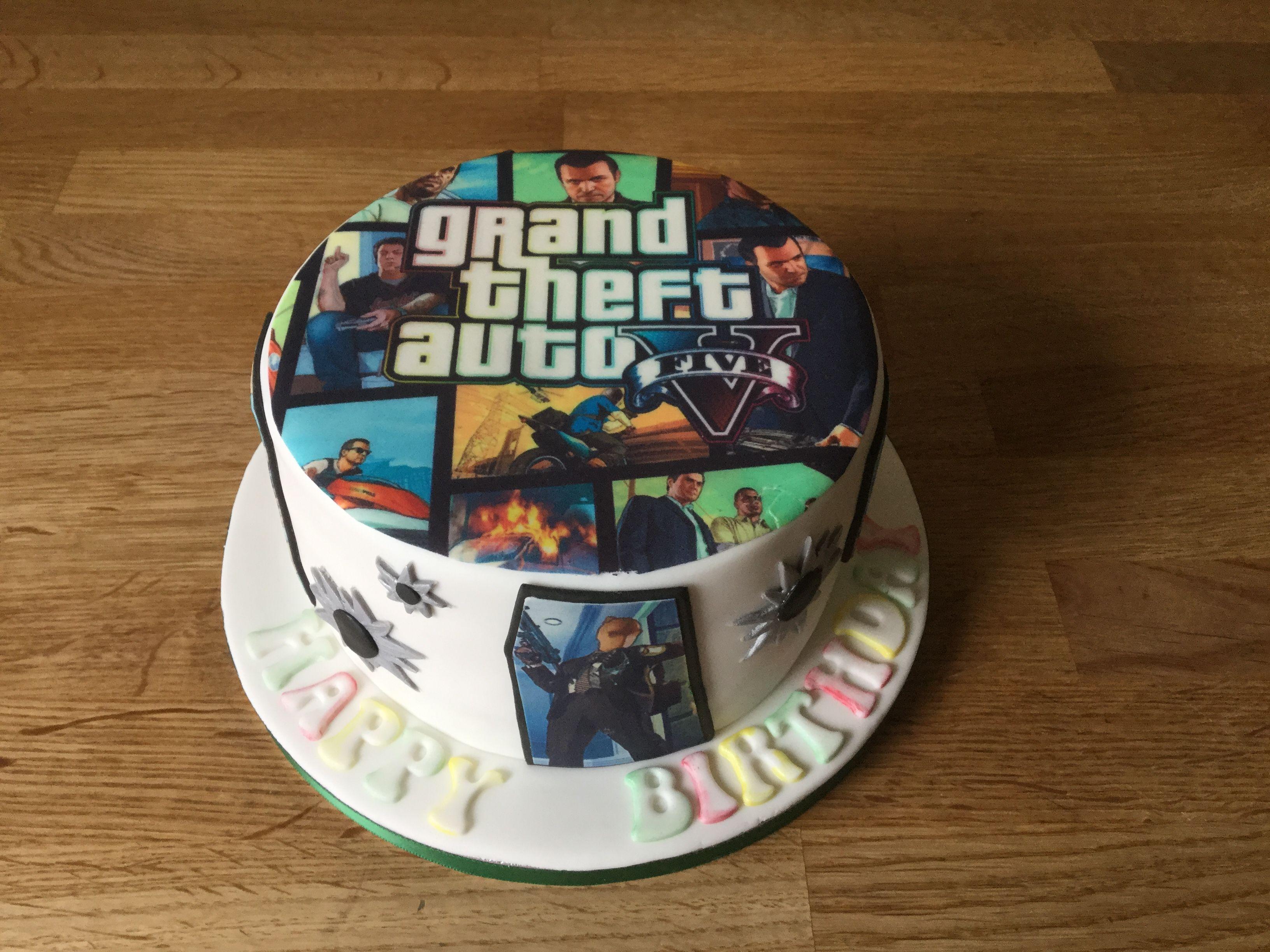Grand Theft Auto Cake Funny Wedding Cakes 14th Birthday Cakes
