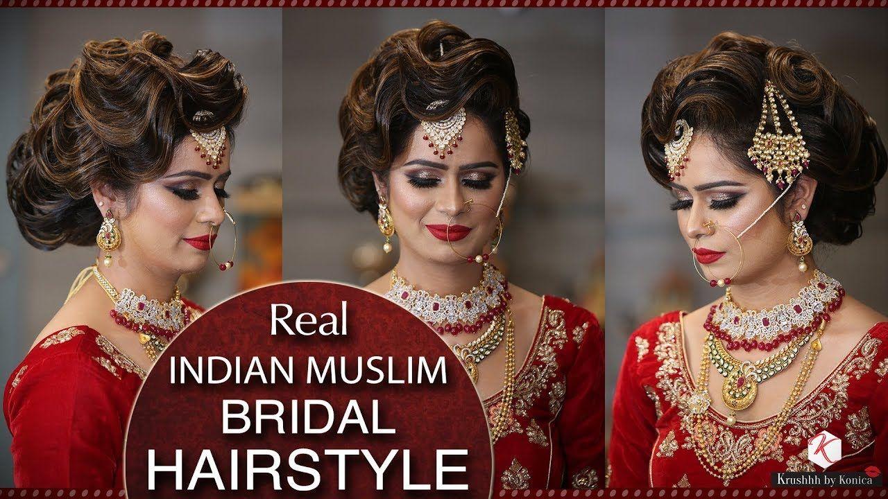 Muslim Bridal Hairstyle Tutorial Easy Hair Bun Tutorial For Muslim Bride Krushhh By Konica Hair Styles Girl Hairstyles Bridal Hair