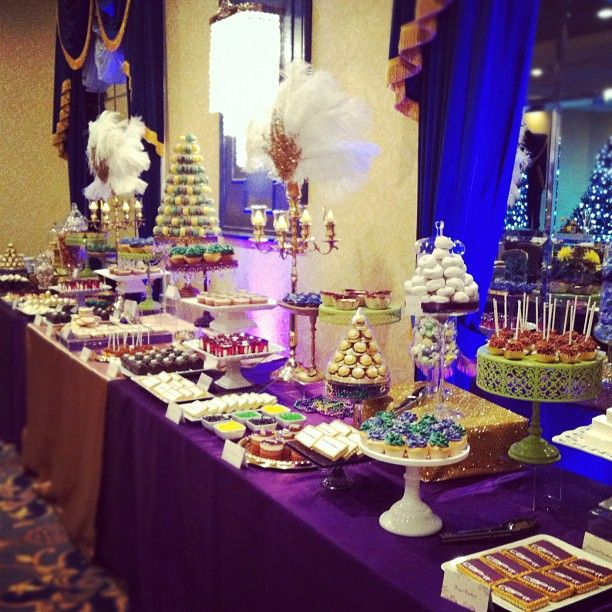 Dessert Buffets For Wedding Receptions Edmonton Candy Buffet Mardi Gras Inspired Table