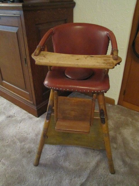 Antique/Vintage German Baby High Chair - Converts to Table & Chair & Potty - Antique/Vintage German Baby High Chair - Converts To Table & Chair