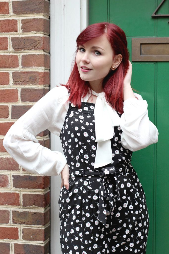 Paige Joanna Dorothy Perkins floral jumpsuit and pussy bow blouse. #howtowear