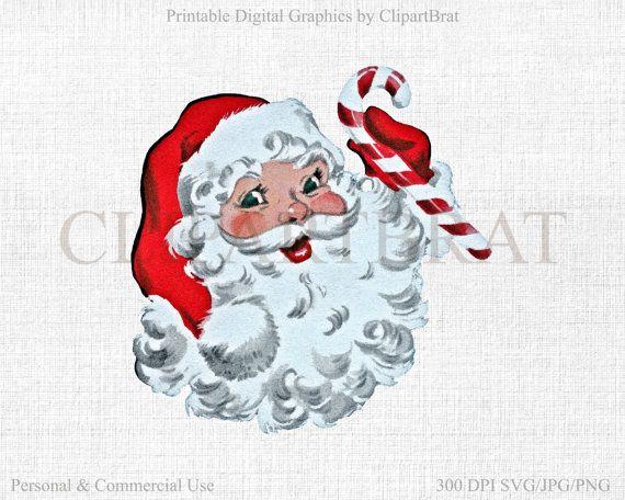 Retro Santa Claus Clipart Commercial Use Christmas Clip Art Etsy Clip Art Vintage Santa Claus Clipart Christmas Clipart