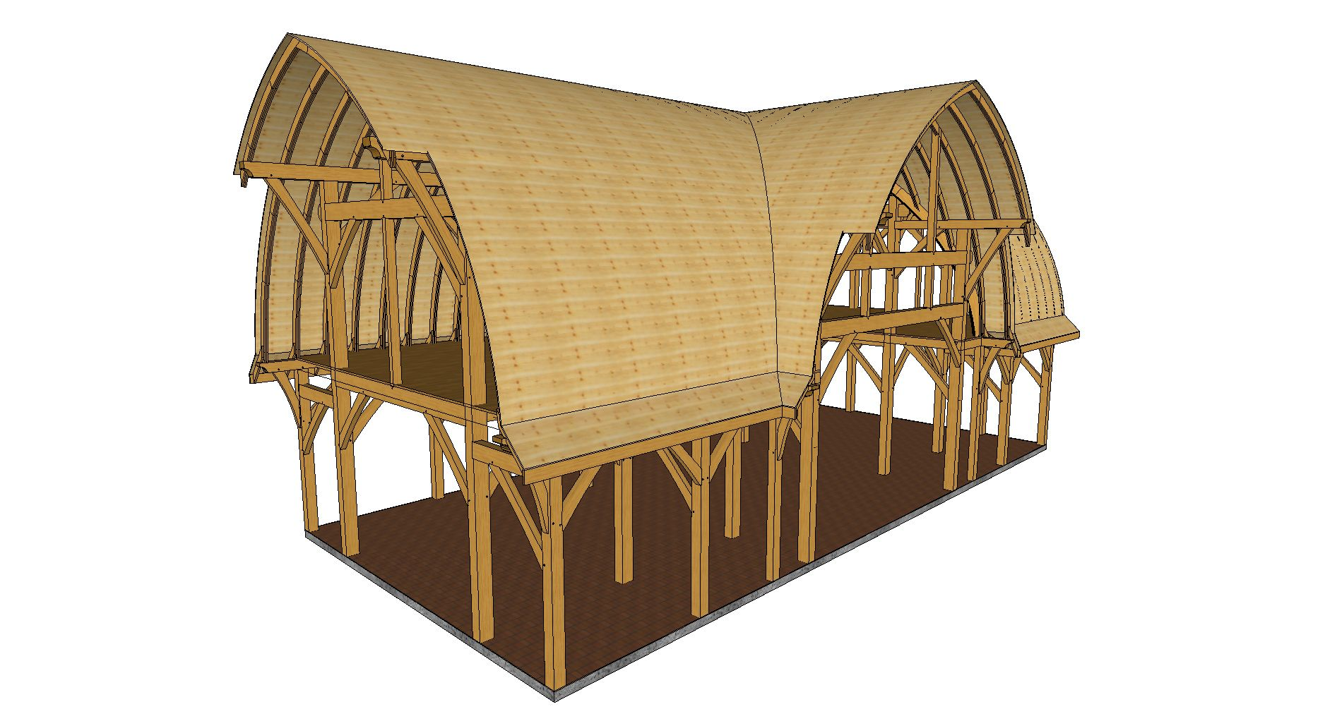 Curved Roof Barns The Shelter Blog Barn Roof Timber Frame