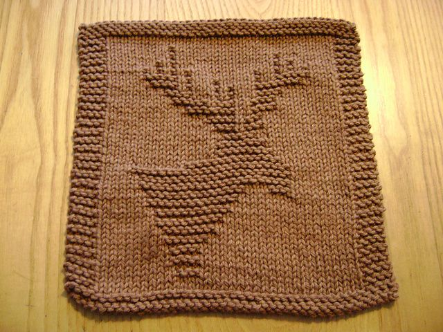 Ravelry Knitted Moose Cloth Pattern By Rhonda White Dishcloth