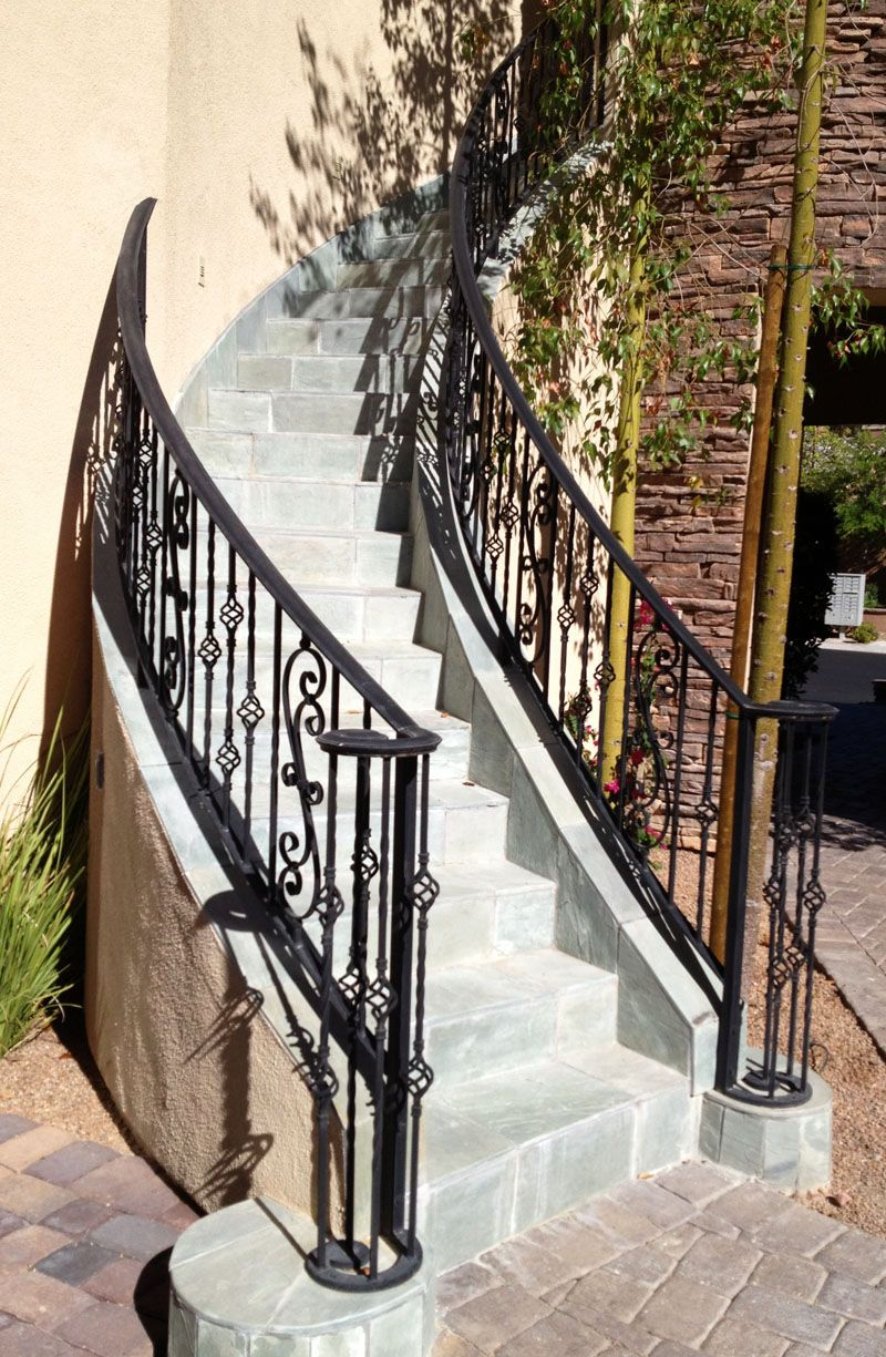 Modern unique exterior agreeable home exterior decoration - Metal railings for stairs exterior ...