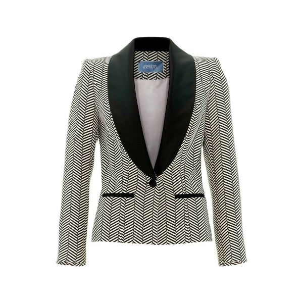 bf45bf74729de5 Woman tuxedo jacket by Stefanie Renoma, black and white collection ...