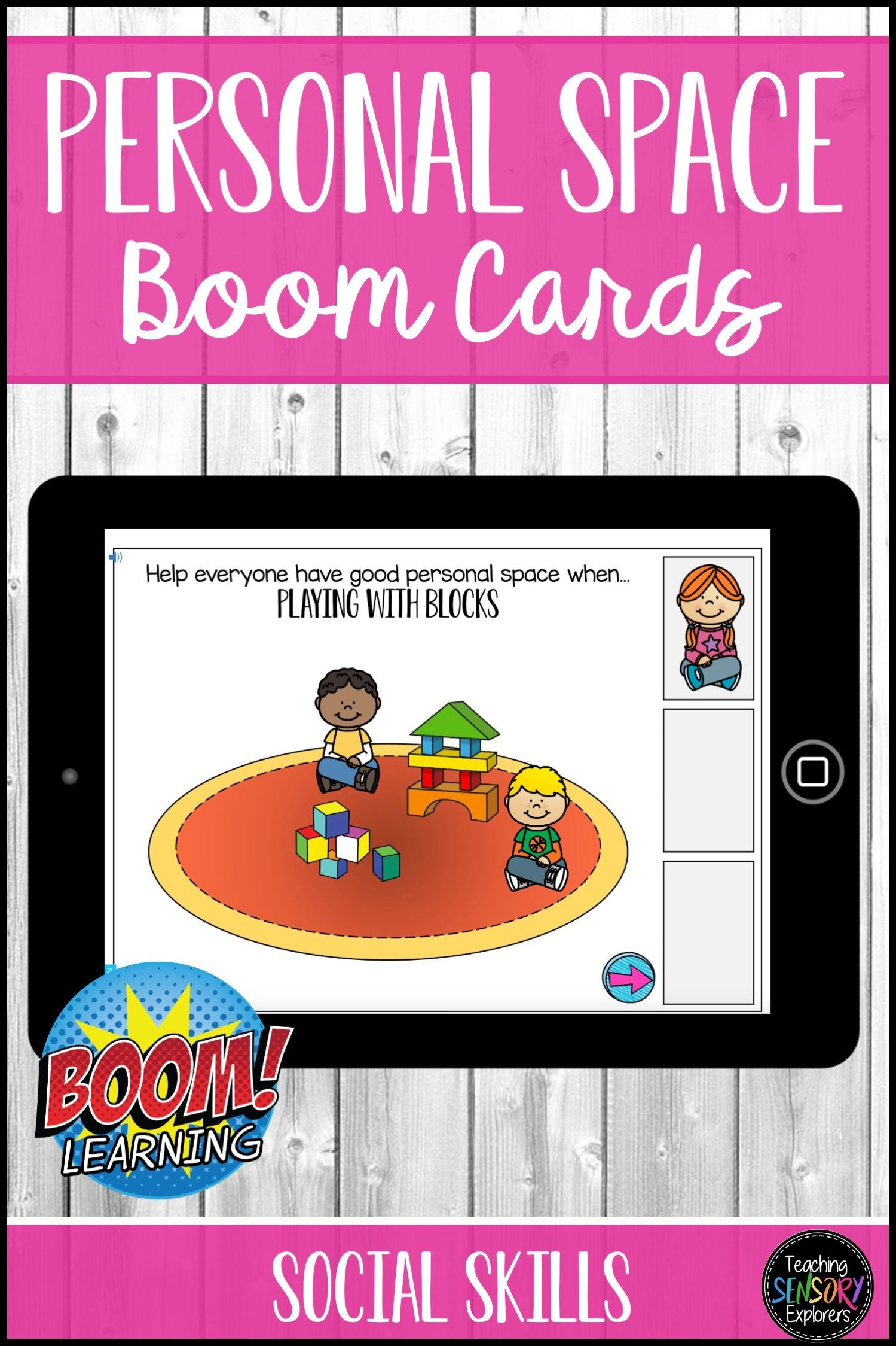 Personal Space Digital Boom Cards Special Education In