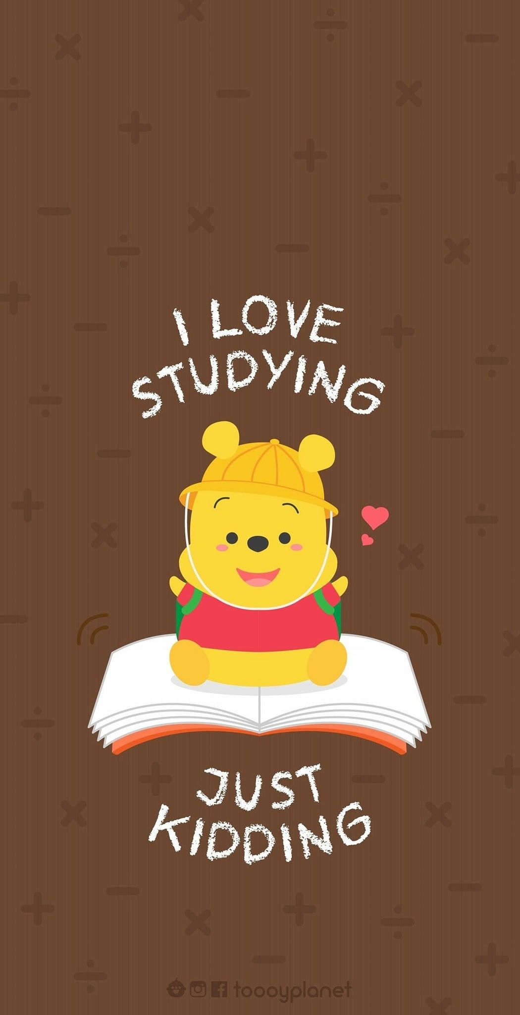 Winnie The Pooh Studying With Images Disney Wallpaper Cute