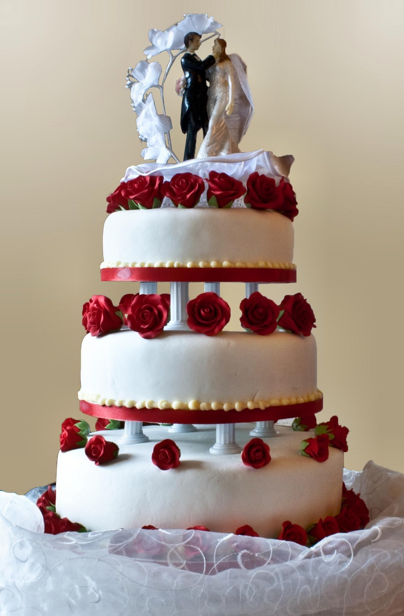 Wedding Cake With Pillar Supports 2009 Wedding Cake Red Wedding Cake Cost Wedding Cake Decorations