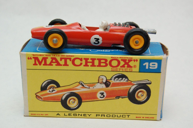 Matchbox Lesney 19 Lotus Racing Car RARE Orange with