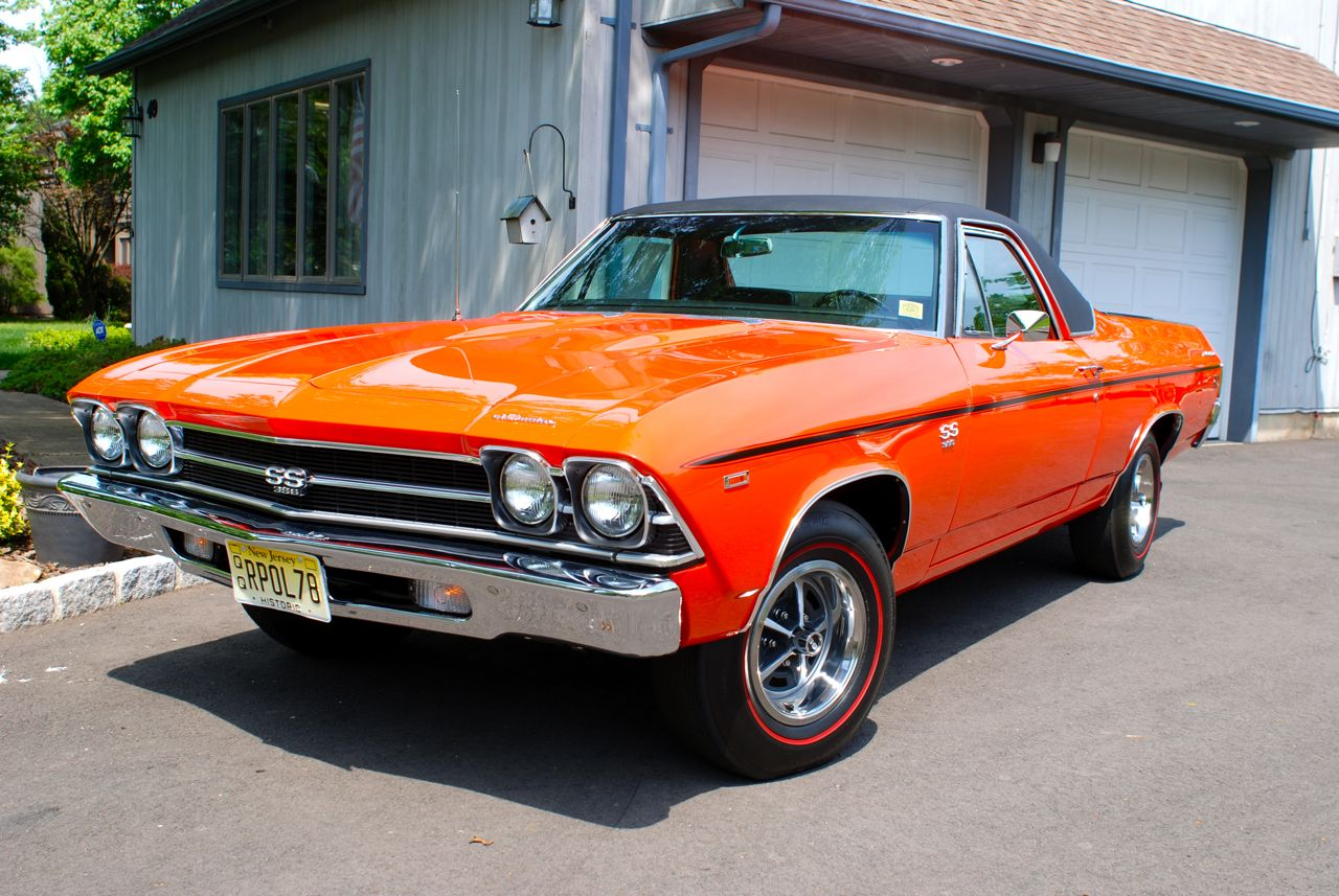 69 El Camino Restoration Complete Its An Original Ss396 L78 Monaco 1968 Chevrolet Ss Orange Numbers Matching Elky