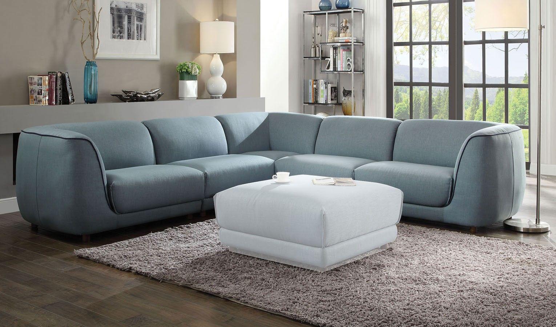 Adina Modular Sectional in 2019 | Light blue sofa, Modular ...
