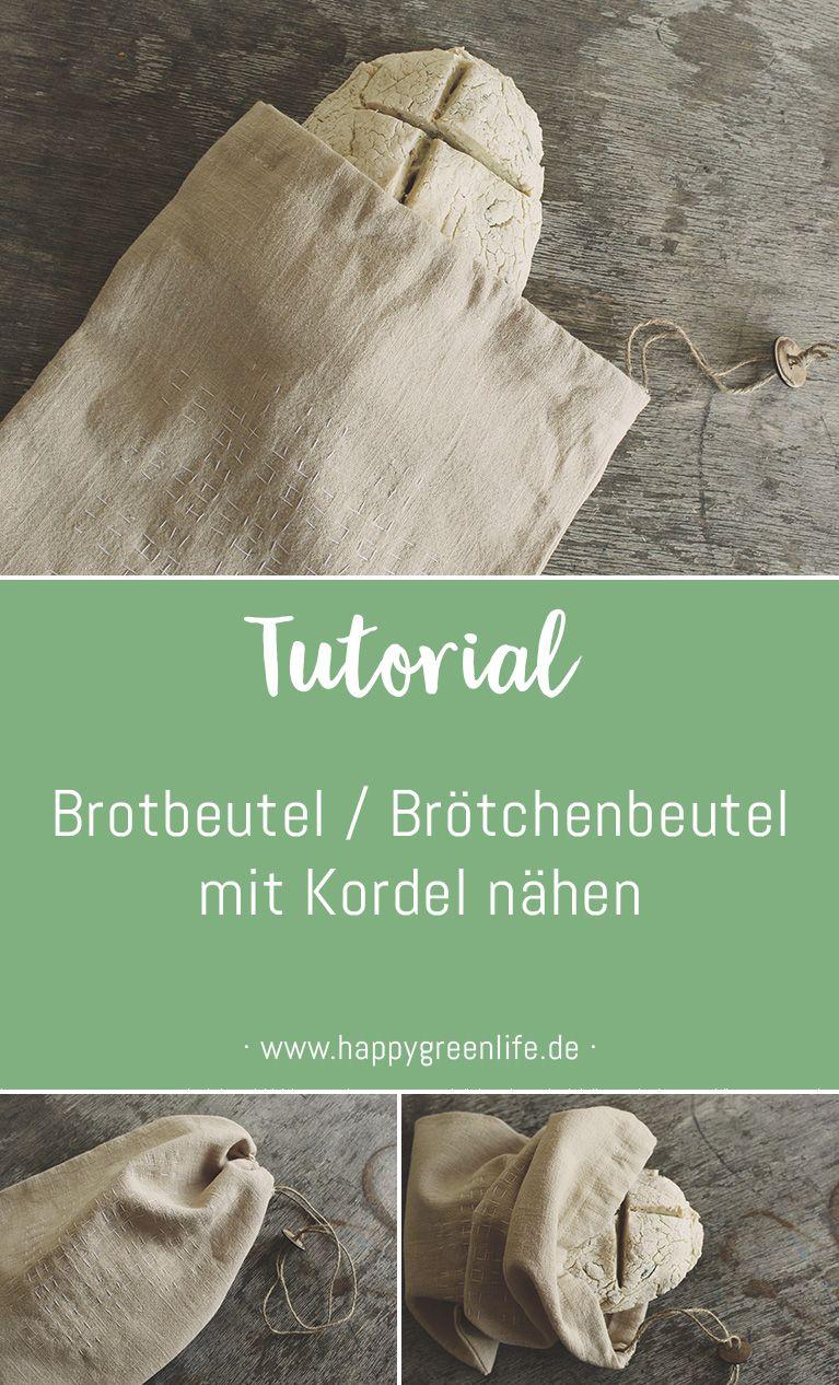 Nähanleitung: Brotbeutel / Brötchenbeutel mit Kordel - Kreativlabor Berlin