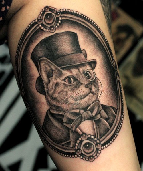 48ef0a31d ... Tattoos Designs Images - Page 31. Steampunk Kitty by Adam Vu |  adamvunoir.com With girl instead
