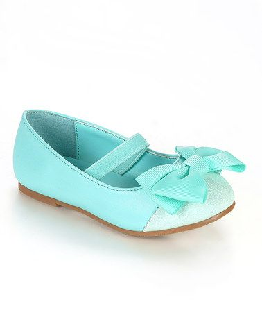 Take a look at this Sea Green Girona Flat by Jelly Beans on #zulily today!