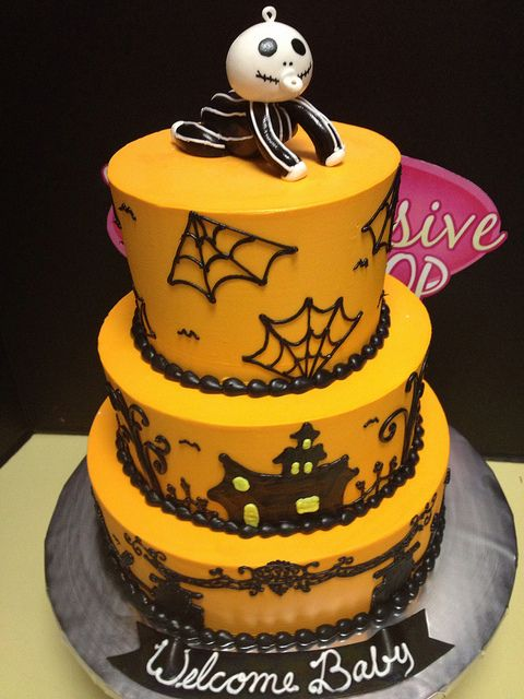 Halloween Baby Shower Cake Fancy Cakes Pinterest Baby