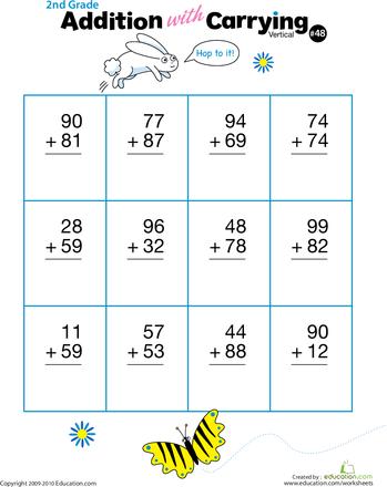 11++ Math worksheets vertical addition Popular