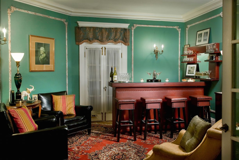 Antique BYOB bar at historic Berkshires bed and breakfast