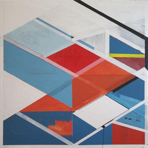Interloper / acrylic on canvas 30x30 2009 by Jeff Depner
