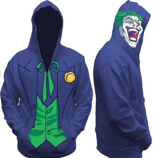 Become the terror of Gotham with the Joker Costume Hoodie! This product is an officially licensed piece of DC Comics. Uses a zip-up sweatshirt design.  sc 1 st  Pinterest & Sweet Joker hoodie   The Joker   Pinterest   Joker Fandoms and Comic