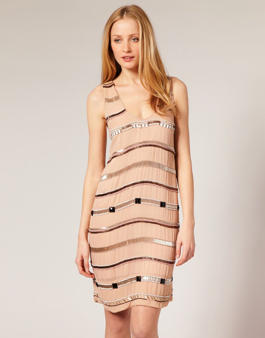$145 French Connection sequined shift dress