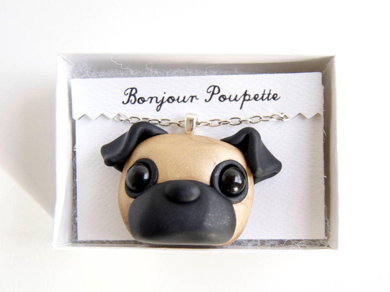 Pug Art Pendant by Bonjour Poupette.