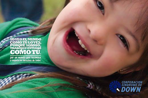 Hermoso mensaje de la Corporación Síndrome de Down de Bogotá...