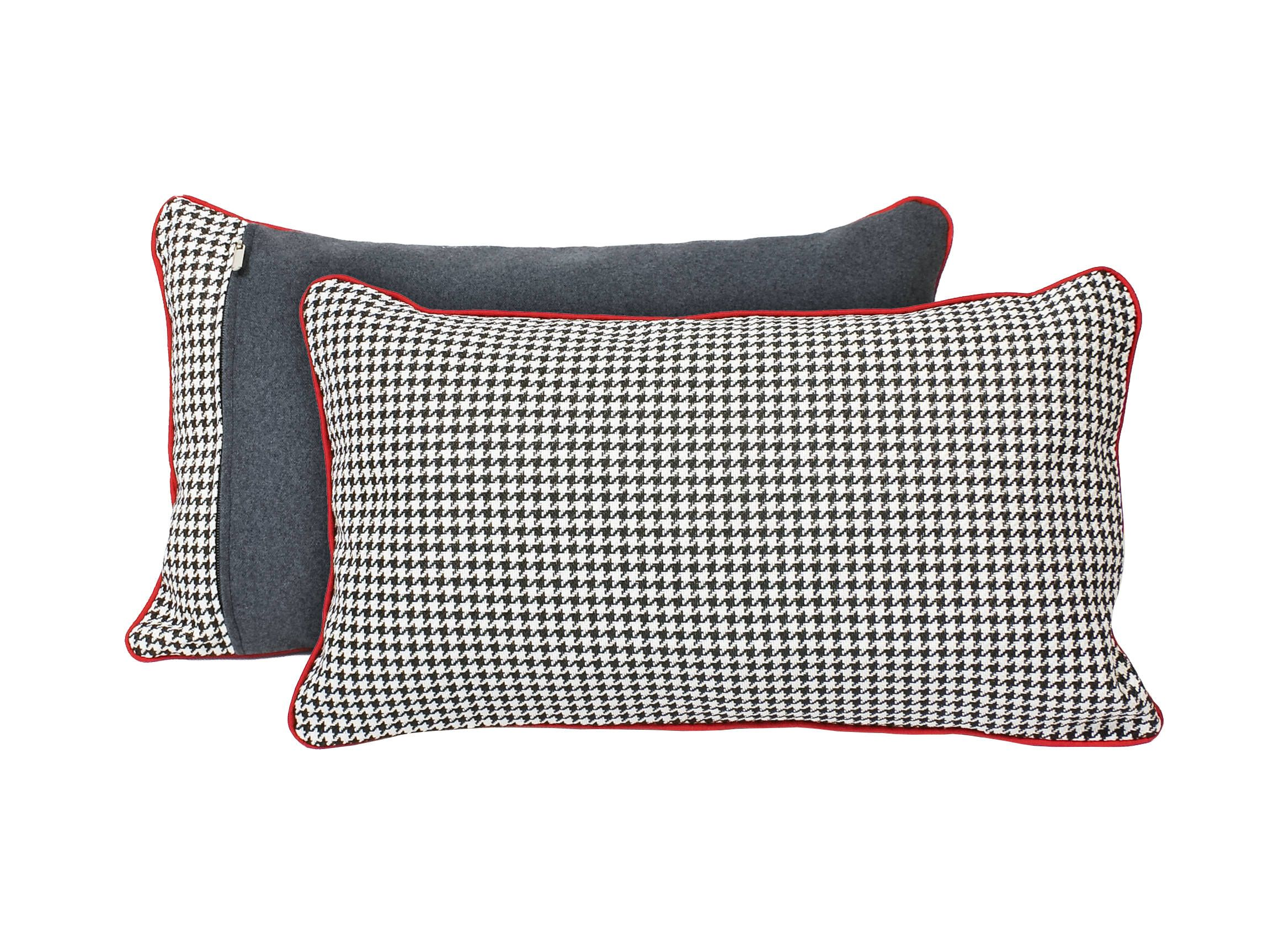 Black and white houndstooth pillow