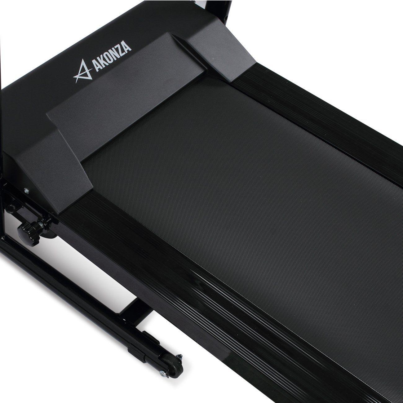 Black Akonza 1100W Folding Electric Treadmill Fitness Power ...