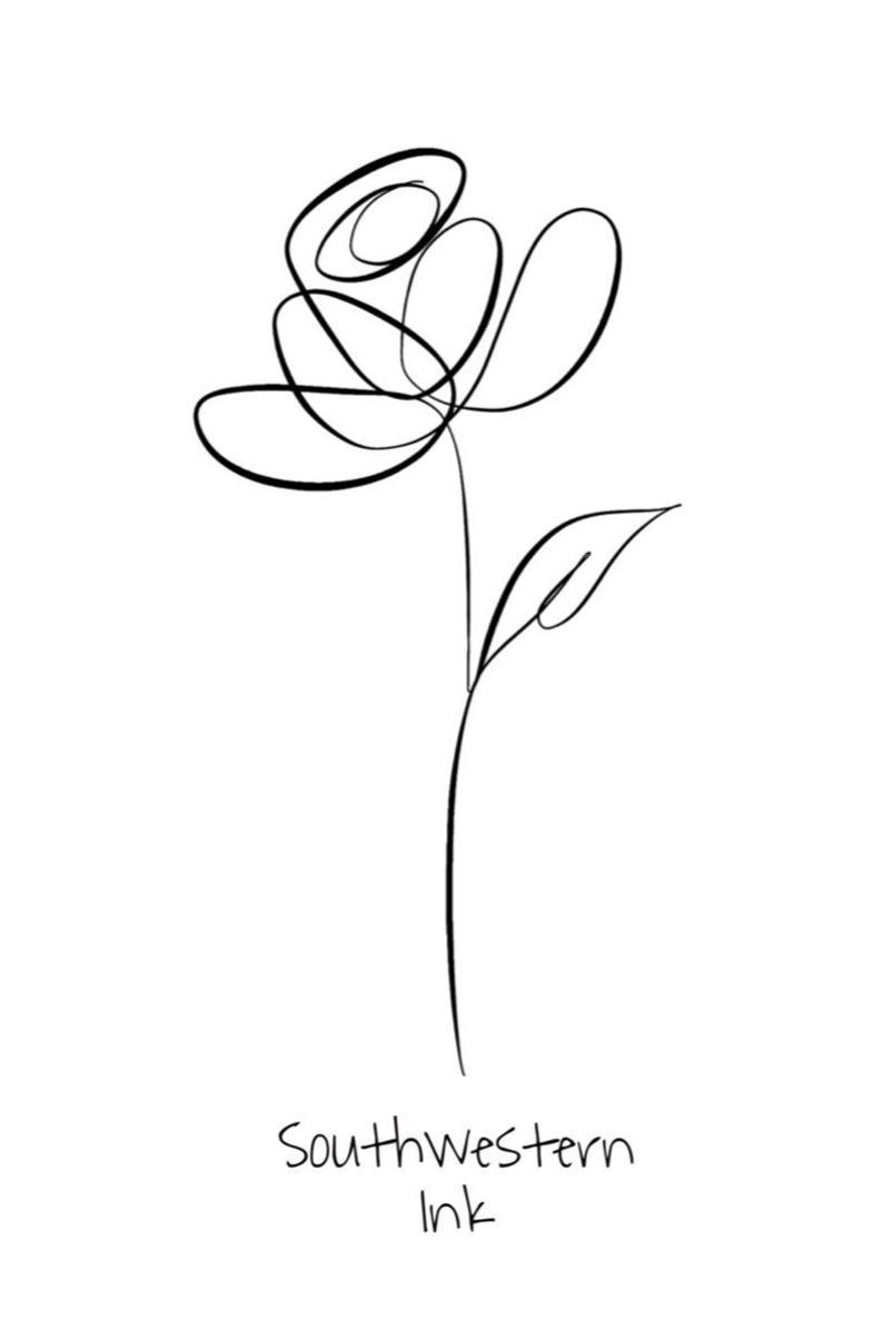Botanical Line Art, Botanical Line Drawing, Line Art print, Minimalist Wall Art, Giclee Rose Print, Modern Minimalist, Line Art Drawing
