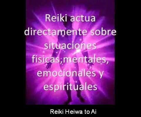 Reiki actúa directamente sobre situaciones físicas, materiales, emocionales y espirituales.