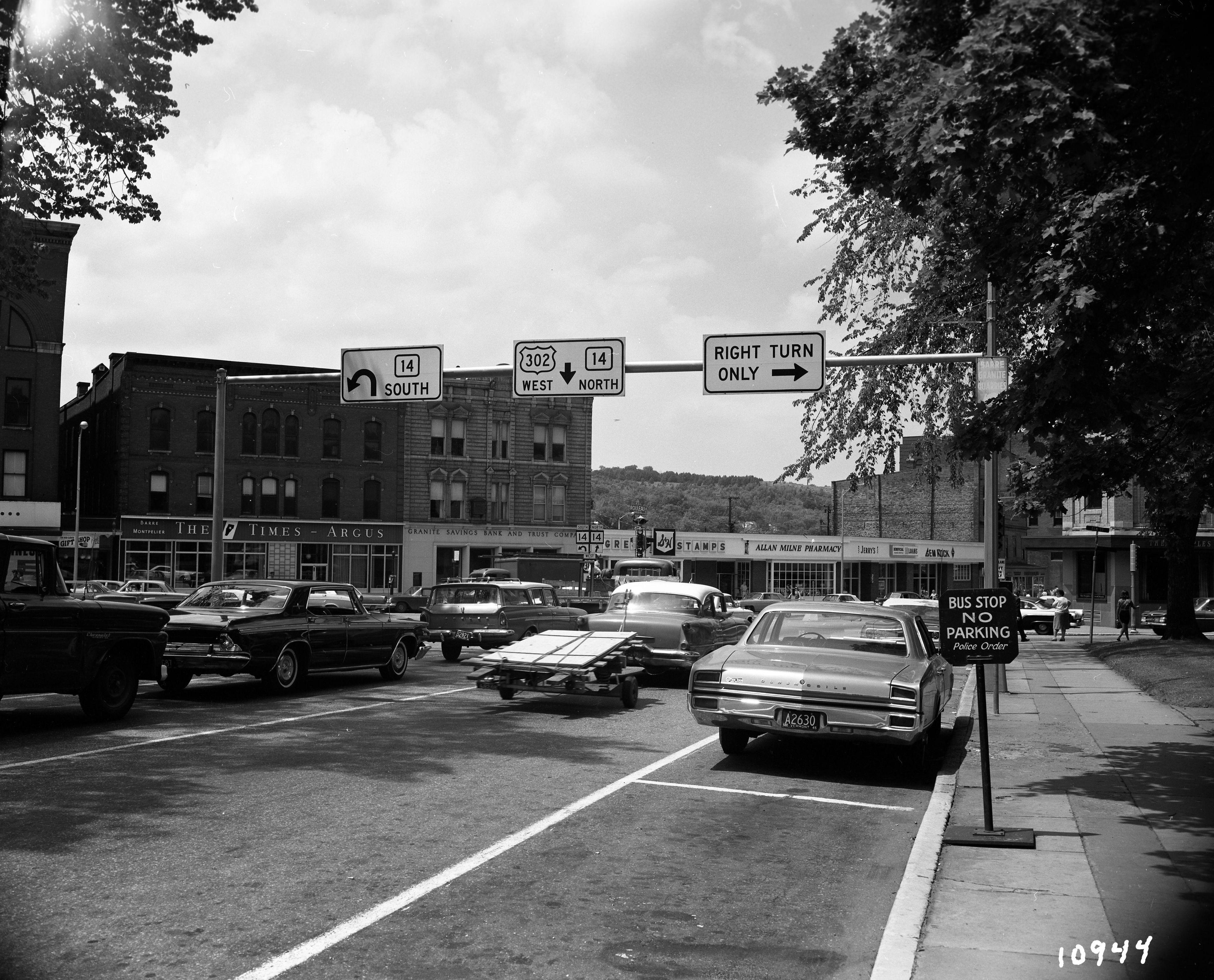 Barre Vt 1965 Vermont Street Scenes Barre
