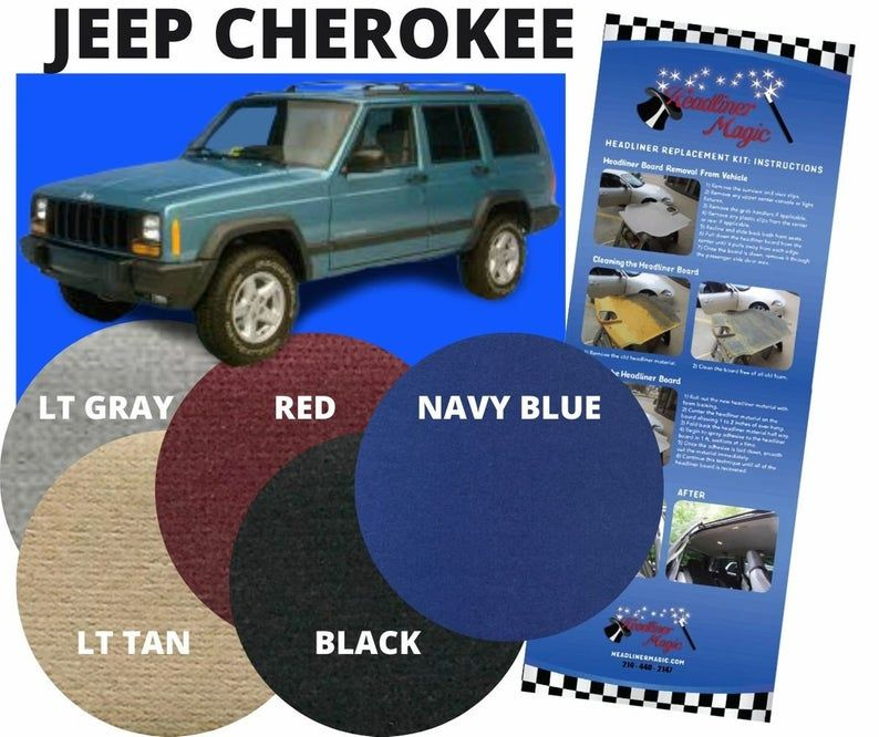 Headliner Ceiling Repair Fabric Material For Jeep Cherokee Etsy Jeep Cherokee Fabric Material Jeep