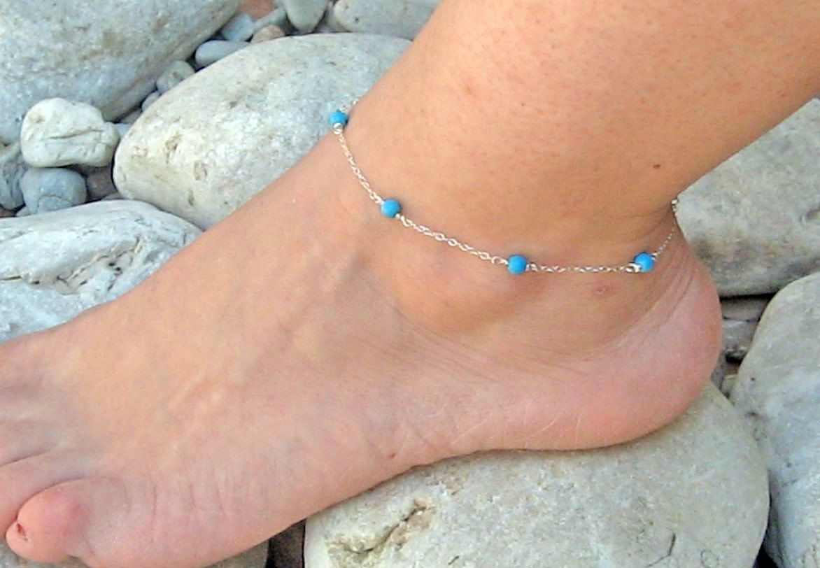 anklet accessory beach chain myjewelry beads bracelets jewelry product anklets from turquoise rope black ankle pc summer women turtle dhgate foot for com