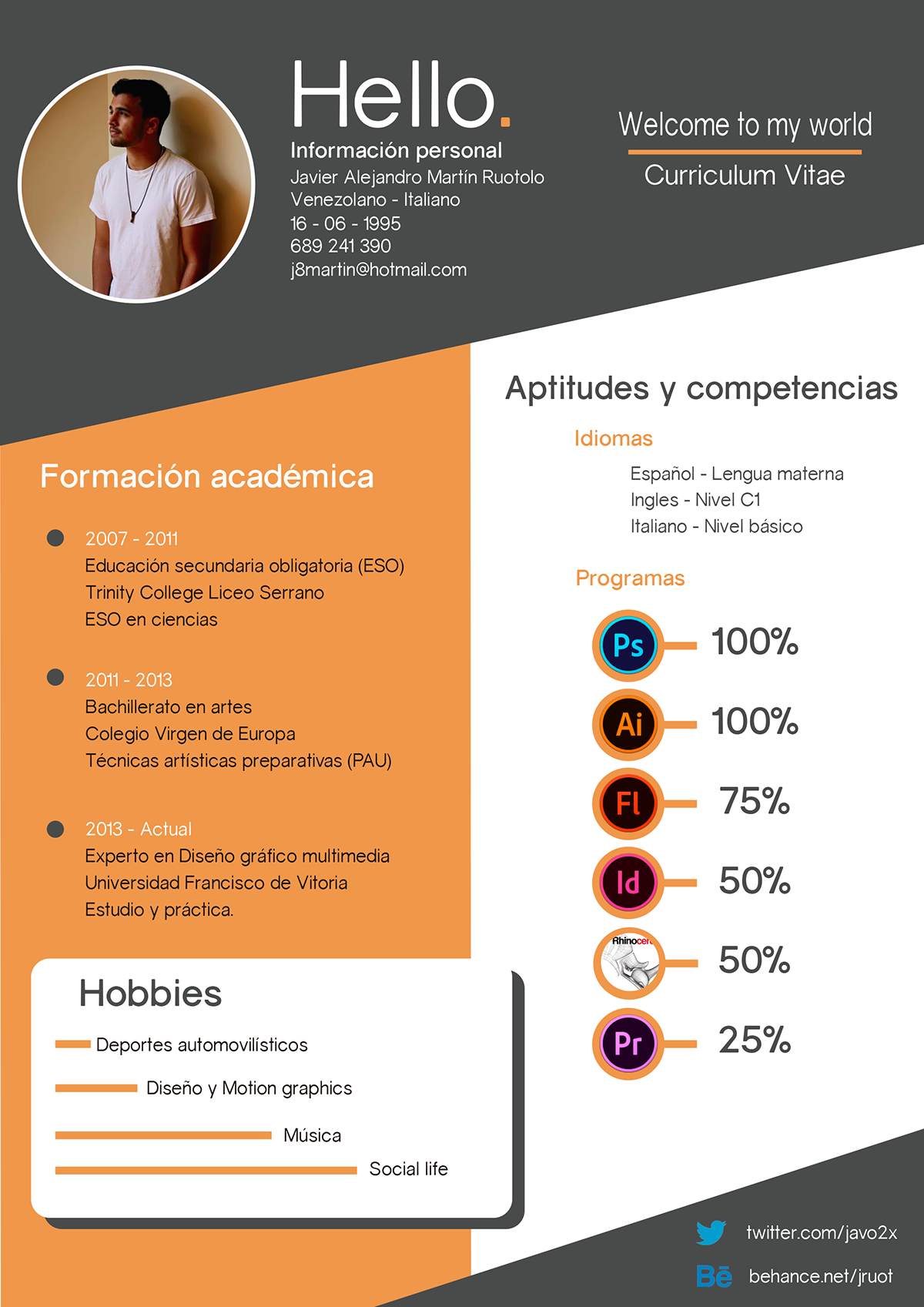 Curriculum Vitae Welcome To My World On Behance Resume Design Resume Design Creative Resume Design Template