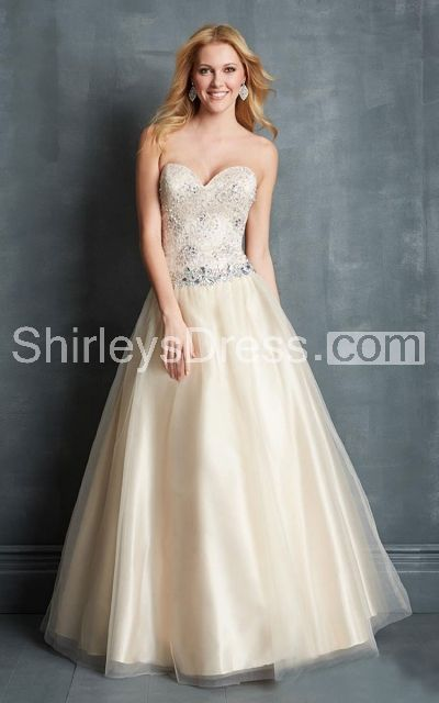 Femme Waistbanded Crystal-beaded Sweetheart Tulle Prom Gown