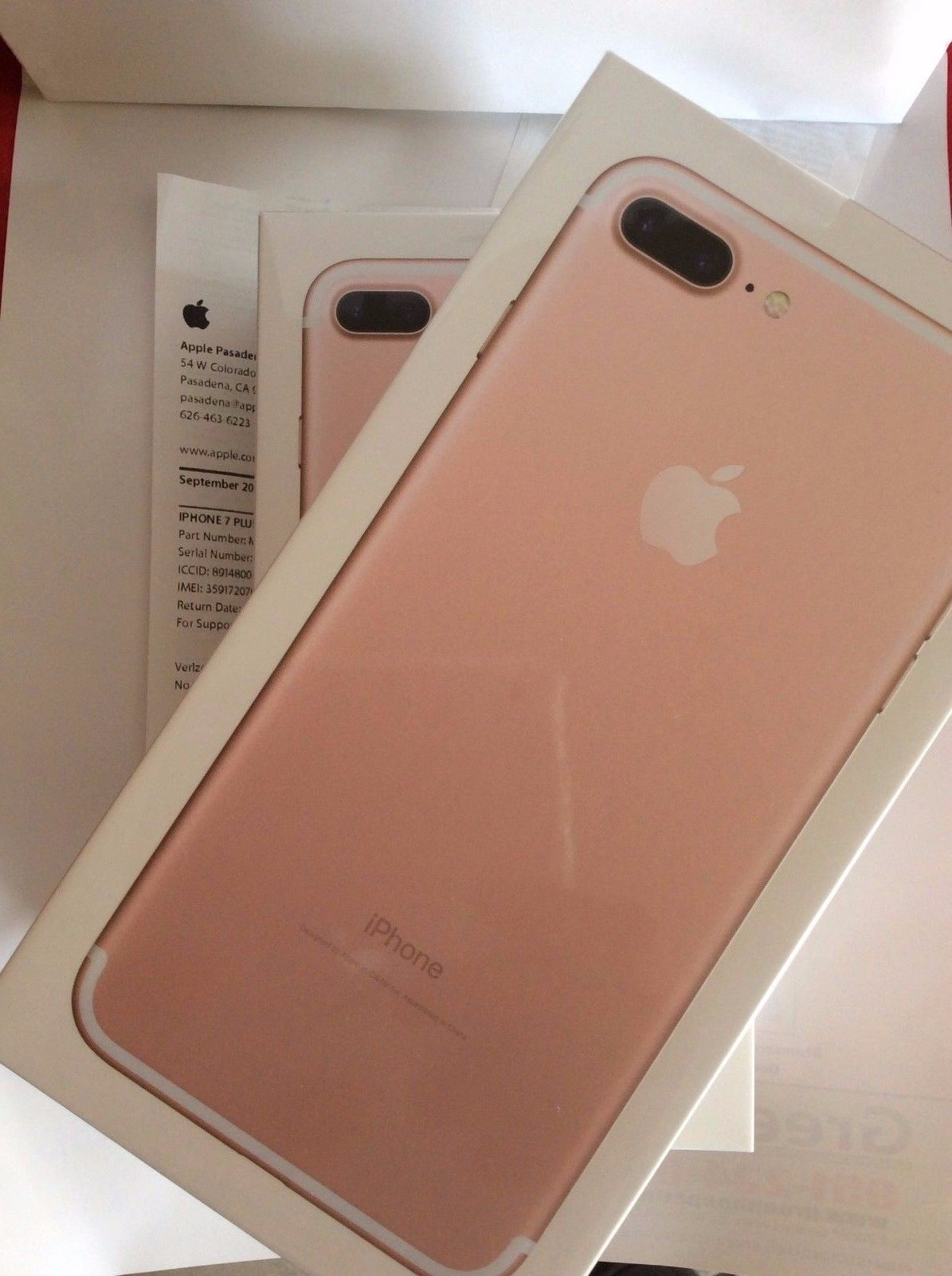 Iphone 7 plus rose unlocked