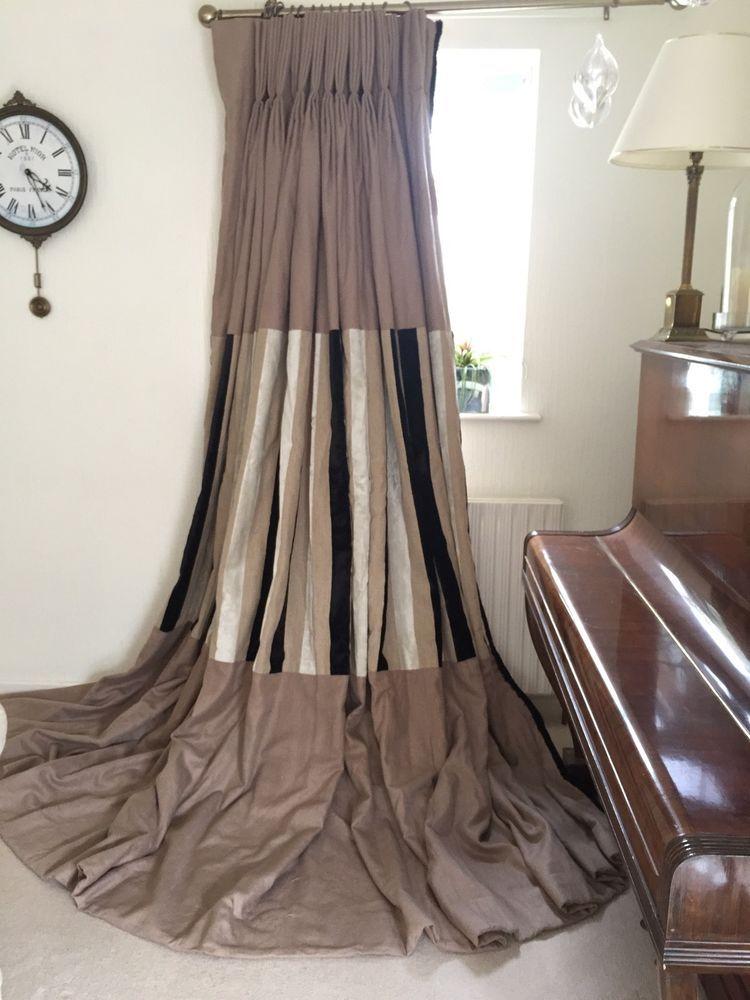 9ft Designers Guild Linen Velvet Custom Stripe Bespoke